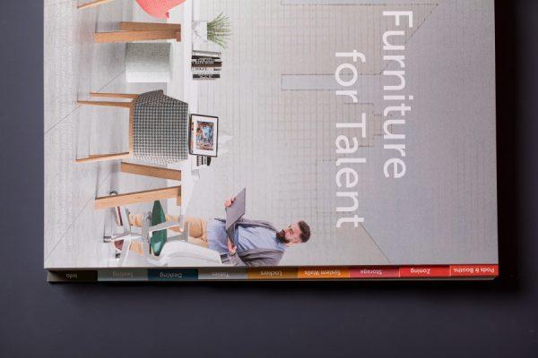 Spacestor tabbed brochure printing
