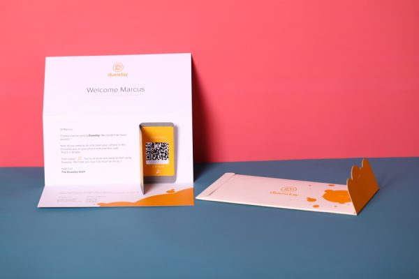 Duesday POTM embossed die cut direct mail printing
