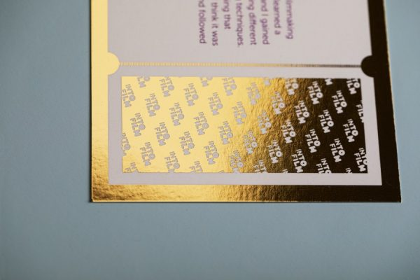 IntoFilm Golden Tickets with Digital Foil Print
