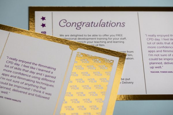 IntoFilm Golden Tickets with Digital Gold Foiling Newton Print