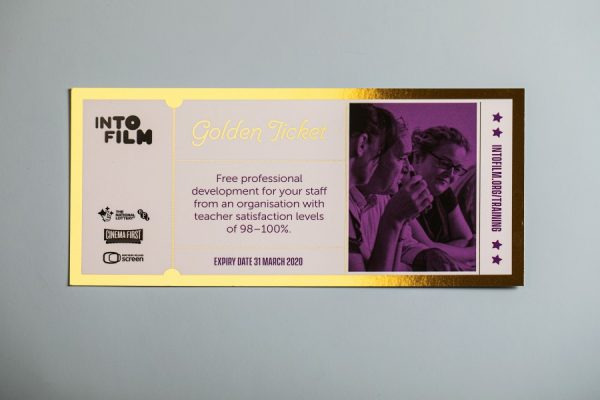 IntoFilm Golden Tickets with Digital Foil Gold Printing