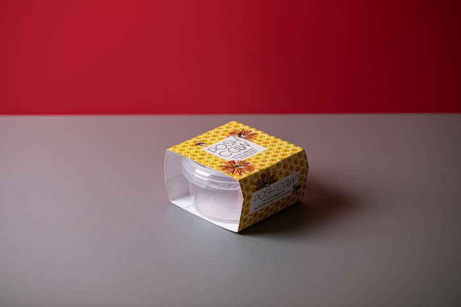 Promotional skillet box and food packaging with Newton Print