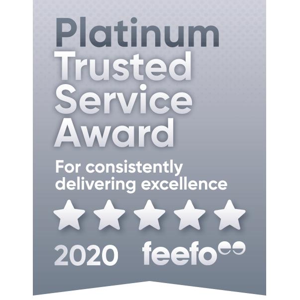 Feefo Award Platinum Trusted Service Winners Newton Print