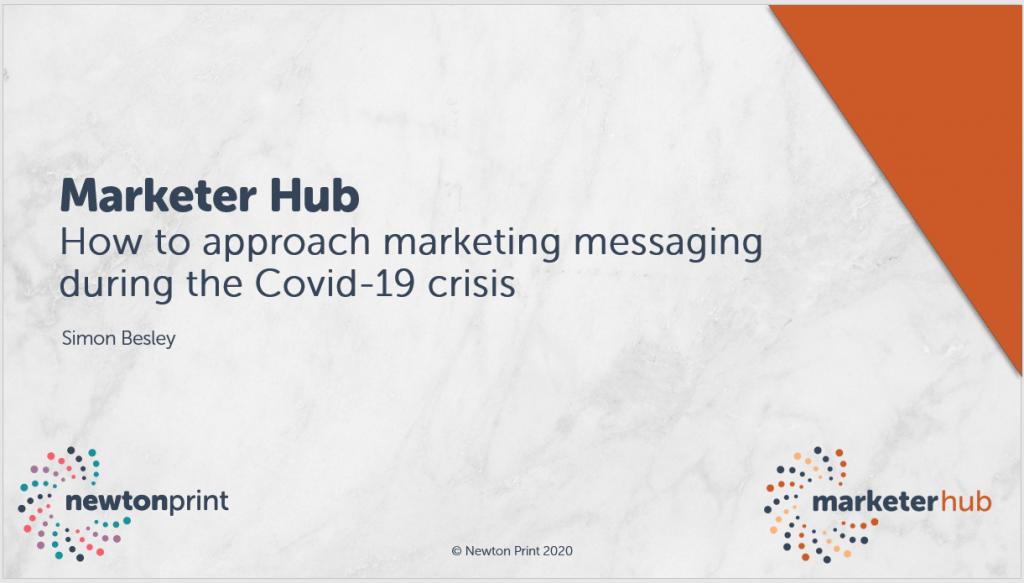 Marketer Hub Messaging Webinar