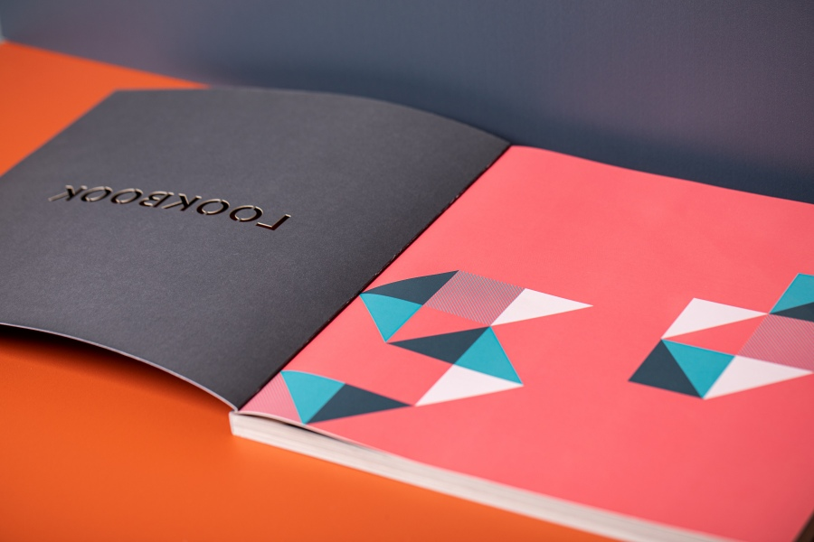 UHS Lookbook with spot colours and perfect bound spine