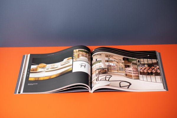 UHS Perfect Bound Look Book Printing Services with Laser Cutting Spot Colours - Newton Print