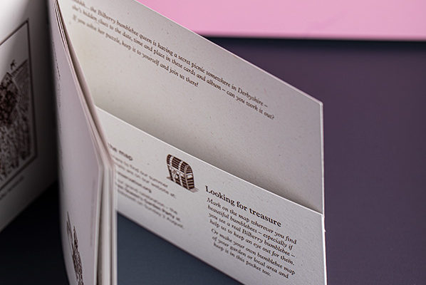 Bumblebee Trust Die Cut Pocket Brochures on Recycled Paper