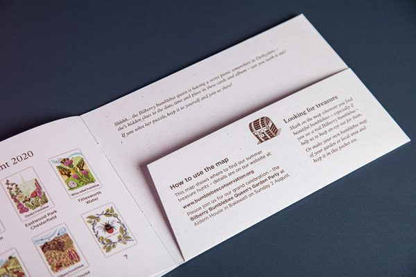 Bumblebee Trust Die Cut Brochure with Pocket