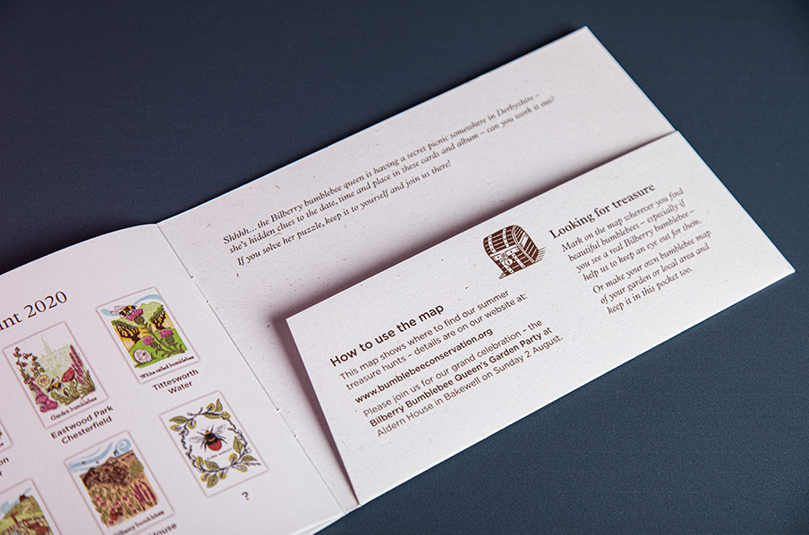 Bumblebee Trust recycled pocket brochure