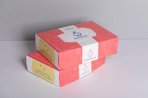 Printed food packaging UK for a food baking kit