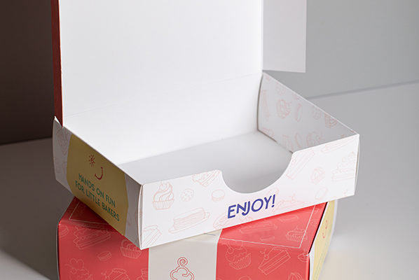 Tuck end box short run food packaging printing UK with Newton Print