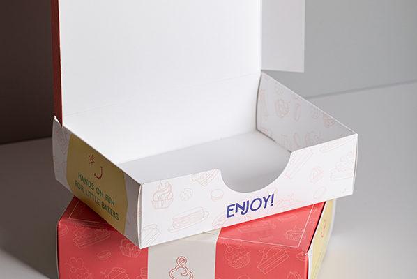 Tuck end box short run food packaging printing UK with Newton Print