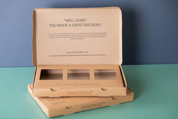 Kraft Eco Friendly Packaging Box Printing with Newton Print