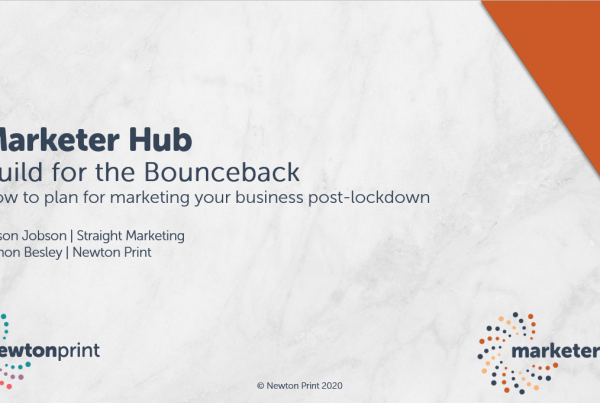 Marketer Hub 7th May - Build for the Bounceback