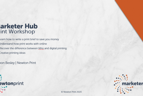 Marketer Hub Print Workshop Webinar 17th June 2020
