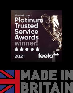 Feefo Trusted Service Award 2021 for Devon Printing Company Newton Print