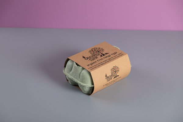 Custom Egg Carton Sleeve Printing on Kraft Recycled Bio-Degradable Board by Newton Print
