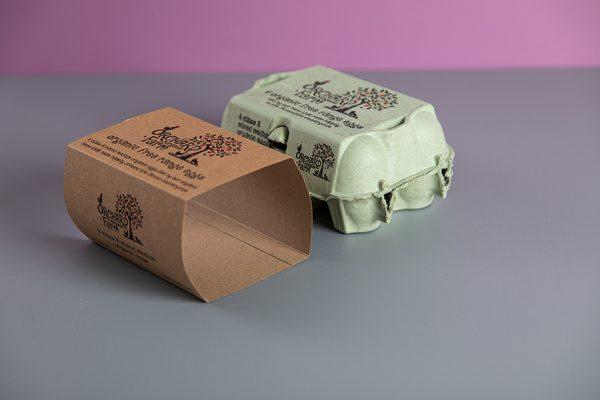 Custom Egg Box Sleeve Printing on Kraft Recycled Bio-Degradable Board by Newton Print