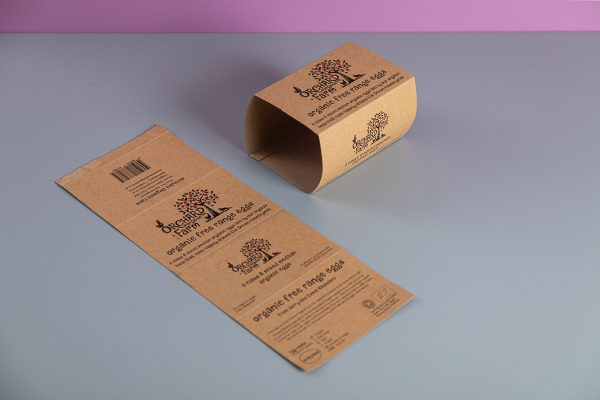 Custom Egg Box Packaging Sleeve Printing on Kraft Recycled Bio-Degradable Board by Newton Print