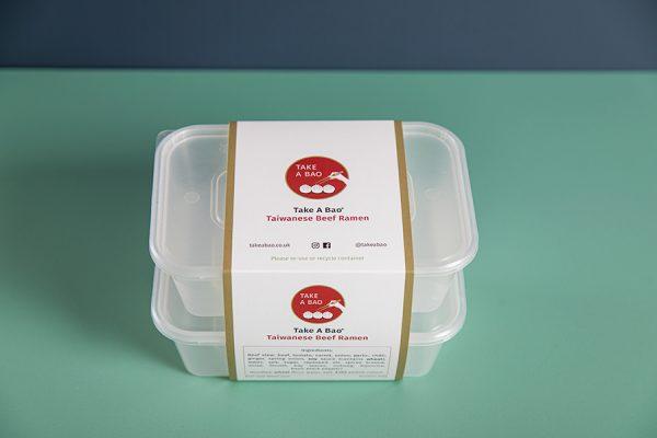 Custom Printed Takeaway Food Box Sleeves with Newton Print