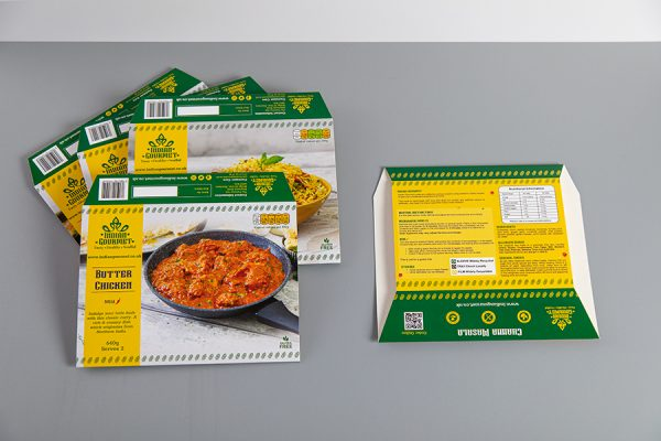 Indian Frozen Ready Meal Food Packaging Printing UK with Newton Print
