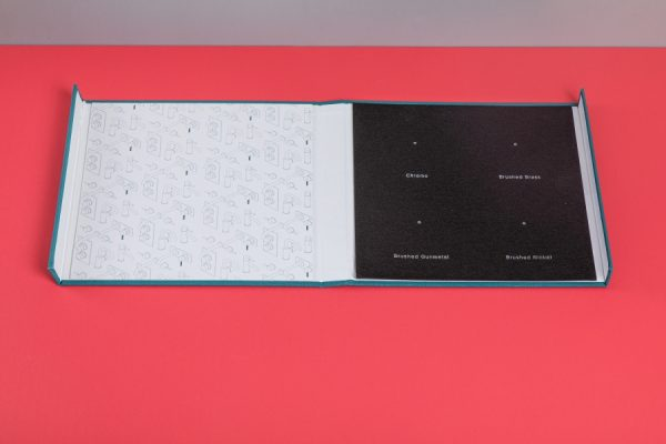 Coalbrook Sample Display Box and Folder with Newton Print
