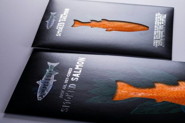 Luxury Smoked Salmon Fish Packaging Printing with Newton Print