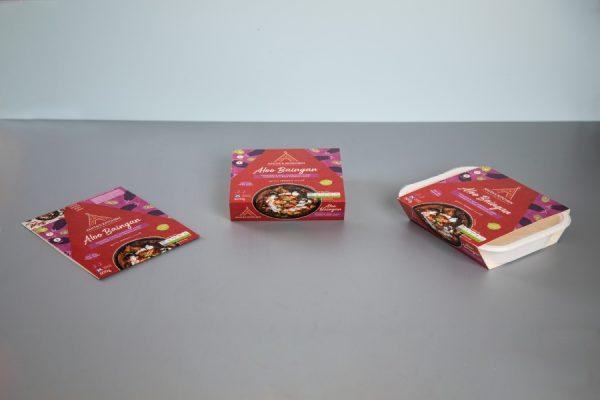 Ready Meal Cardboard Food Sleeve Packaging Printing with Newton Print