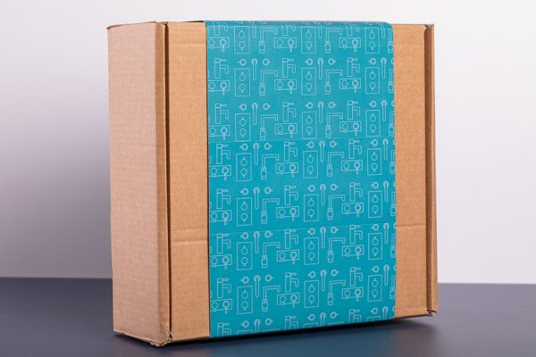 Printed Belly Band Box Wrap with Newton Print