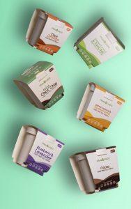 Fravocado ice cream printed tub packaging sleeves UK with Newton Print