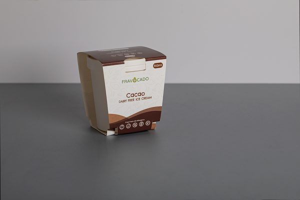 Fravocado printed ice cream packaging UK with Newton Print