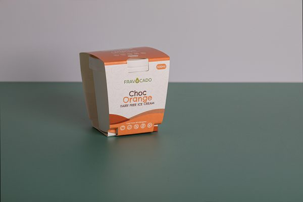 Fravocado ice cream packaging printing with Newton Print