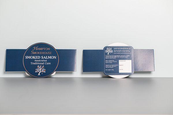 Hampton Smokehouse Custom Smoked Salmon Belly Band Printing