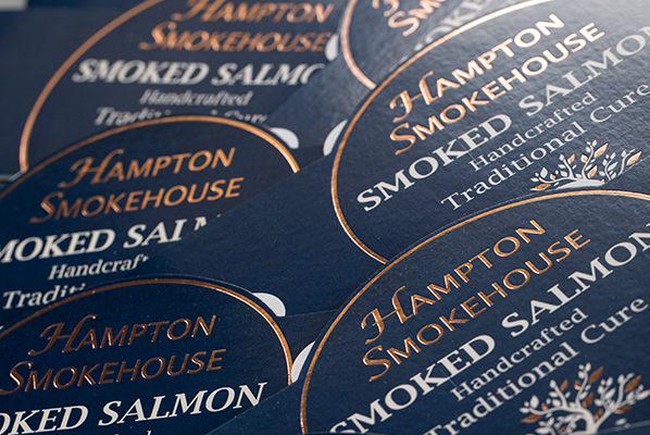 Hampton Smokehouse Smoked Salmon Belly Band Packaging Printing