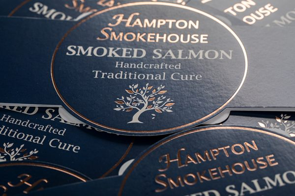 Hampton Smokehouse Smoked Salmon Printed Belly Band Packaging Sleeves
