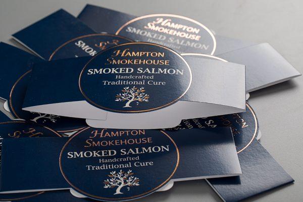 Hampton Smokehouse Smoked Salmon Printed Belly Bands