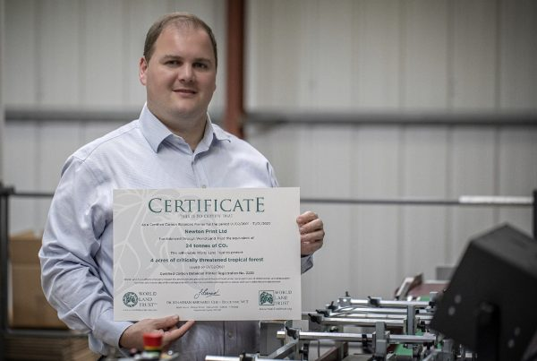Certified carbon balanced printers, Newton Print (Simon Besley)