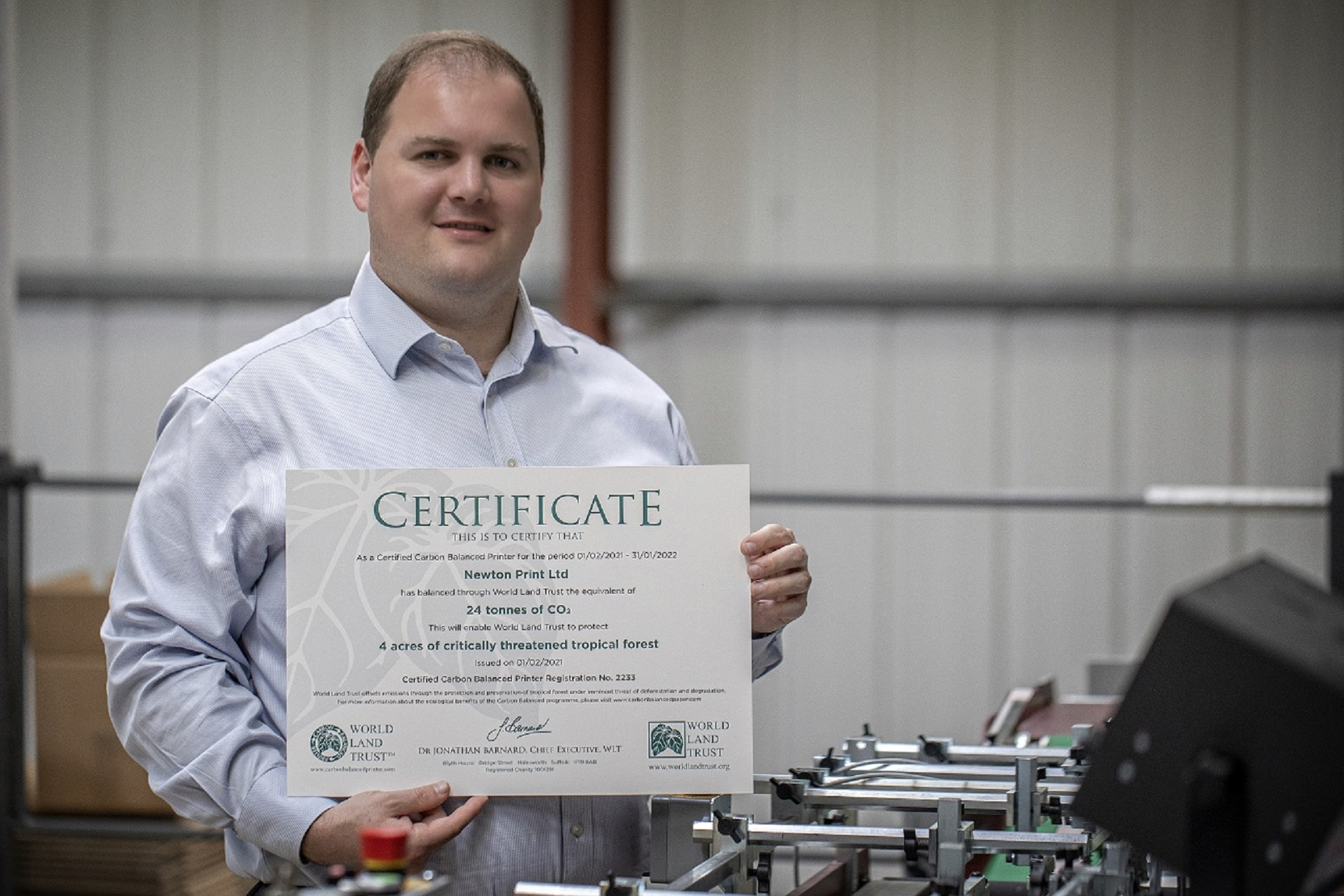 We're Certified Carbon Balanced Printers