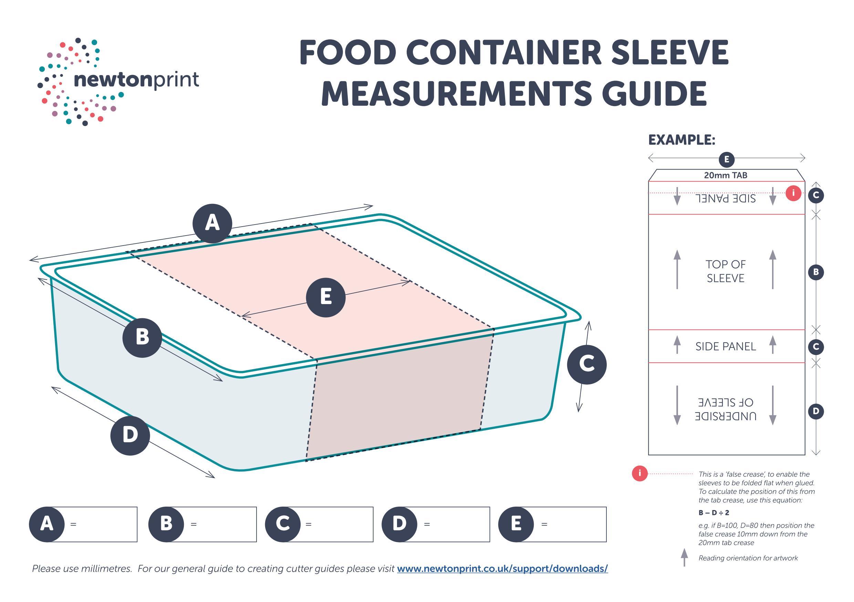 Packaging Food Sleeves Measurement Guide