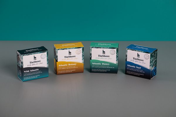Tuck-end Box Packaging and Snap Lock Boxes for Atlantic Soaps by Newton Print
