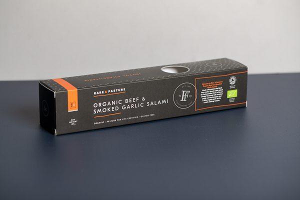 Rare and Pasture Salami Packaging Printing with Snap Lock Box by Newton Print