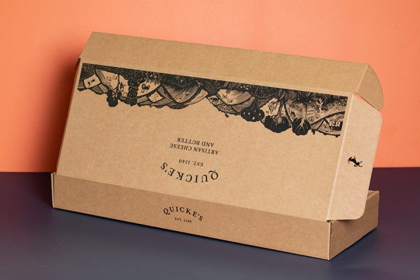 Quickes Cheese Tasting Postal Box Packaging Printing with Newton Print