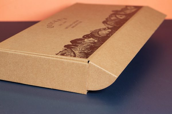 Custom Printed Letterbox Artisan Cheese Packaging with Newton Print