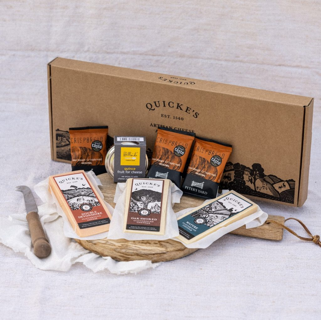 Quickes Cheese box by post printed by Newton Print