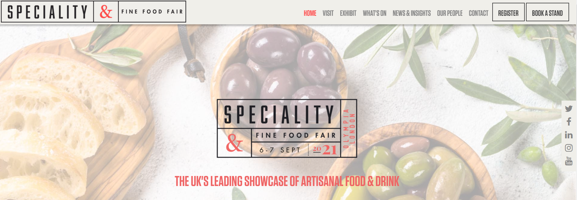 We're exhibiting at the Speciality & Fine Food Fair