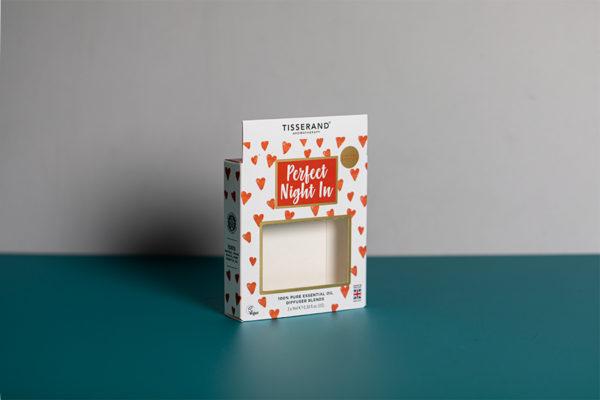 Tisserand custom printed aromatherapy boxes with Newton Print