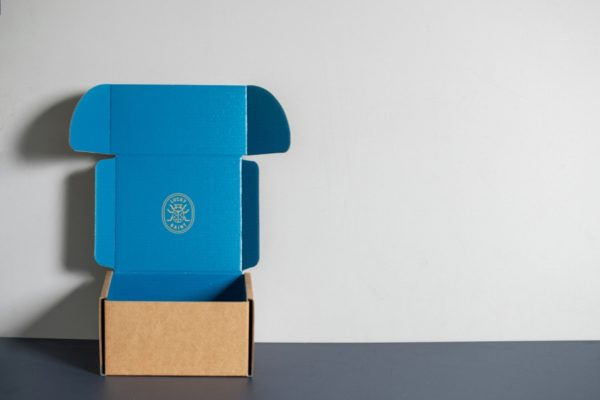 Lucky Saint Beer Presentation Boxes for mailing with Newton Print